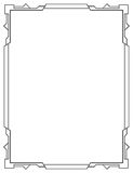 Vertical simples do quadro do preto do vetor Foto de Stock Royalty Free
