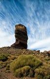 Vertical skała w El Teide parku narodowym Obrazy Royalty Free