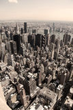 Vertical skyline of Manhattan Royalty Free Stock Image