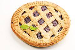 Vertical slice of pie tart cake dessert sweet treat.  stock image