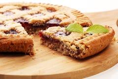 Vertical slice of pie tart cake dessert sweet treat.  royalty free stock photos
