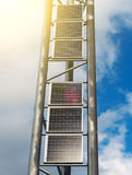 Vertical solar panels. Stock Photography