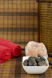 Vertical spa concept image Royalty Free Stock Images