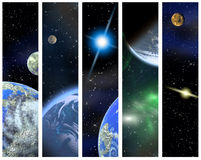 Vertical space banners Stock Images