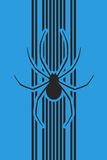 Vertical spider background Royalty Free Stock Photography