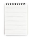 Vertical spiral notebook isolated on pure white. Royalty Free Stock Photography