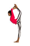 Vertical splits. Latina dancer girl Stock Photography