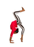 Vertical splits. Latina dancer girl Royalty Free Stock Photos