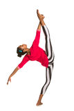 Vertical splits. Latina dancer girl Stock Photos