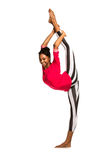 Vertical splits. Latina dancer girl Royalty Free Stock Image