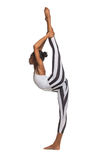 Vertical splits. Latina dancer girl Stock Photo