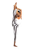 Vertical splits. Latina dancer girl Royalty Free Stock Photo