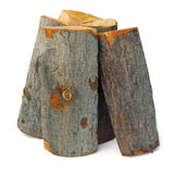 Vertical stack of alder logs royalty free stock photography