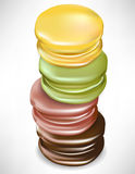 Vertical stack of macaroons Royalty Free Stock Images