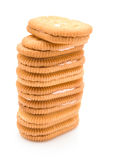 Vertical stacked sandwich biscuits Royalty Free Stock Image