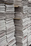 Vertical stacks of newspapers Stock Photography