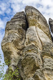 Vertical steep cliffs in the Bohemian Paradise Royalty Free Stock Photo