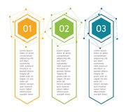 Vertical steps, infographic elements. Outline colorful menu for app interface. Number options. Web design of buttons royalty free illustration