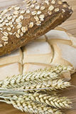 Vertical still life about bread. Royalty Free Stock Photos