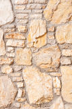 Vertical stone background wall of stonework Stock Images