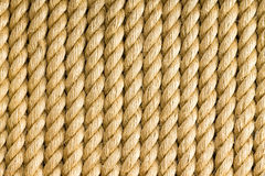 Vertical strands of rope as background Royalty Free Stock Photo