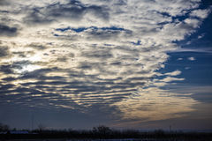 Vertical stratus cloud formation Stock Photos