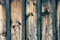 Vertical striped background from old faded boards Royalty Free Stock Photo