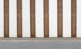 Vertical striped brick wall Stock Photo