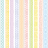 Vertical stripes background with Japanese traditional design. Vertical stripes pattern with Japanese traditional design. colorful seamless background Royalty Free Stock Photos