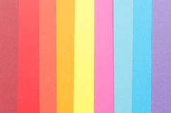 Vertical stripes of colorful construction paper Stock Photo