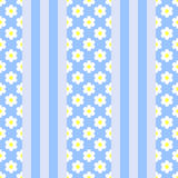 Vertical stripes with flowers patterb Royalty Free Stock Photography