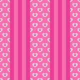 Vertical stripes with hearts Stock Photo
