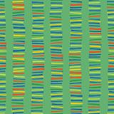Vertical stripes seamless vector pattern. Childish abstract colorful doodle background. stock photo
