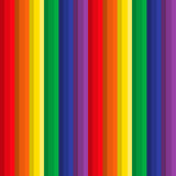 Vertical strips pencils of various color - a seamless sample. Stock Image