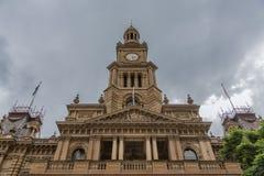 Vertical strzał urzędu miasta przodu fasada, Sydney Australia Zdjęcia Royalty Free