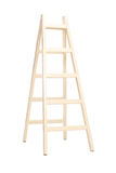 Vertical studio shot of a wooden ladder Stock Image