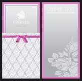 Vertical stylish elegant invitations royalty free illustration