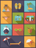 Vertical summer holidays vector illustration Royalty Free Stock Images