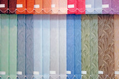 Vertical sunblind. Background from multi-colored vertical blinds Stock Image