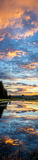 Vertical Sunrise Reflection in Grand Teton National Park. Sunrise Reflects over the Snake River in Grand Teton National Park; vertical panorama stock images