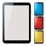 Vertical tablet pc set - isolated vector Royalty Free Stock Images