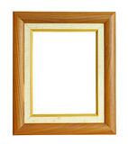 Vertical Teak Wood Photo Frame isolated on white background Royalty Free Stock Photography