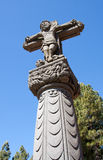 Vertical tejeda cross in canary islands Stock Photo