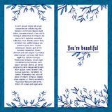 Vertical template greeting card. Decorated with Royalty Free Stock Images