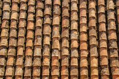 Vertical tile roof in Granada stock photos