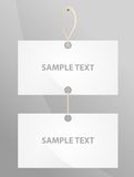 Vertical two bare label Royalty Free Stock Photos
