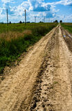 Vertical typical Russian summer road Royalty Free Stock Photography