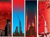 Vertical Urban Grunge Banners Royalty Free Stock Photos