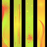 Vertical vector. Four separated banner with similar design elements such as halftone for your text Stock Photo