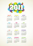 Vertical vector calendar for 2011 year. Vertical color vector calendar for 2011 year Royalty Free Stock Photos